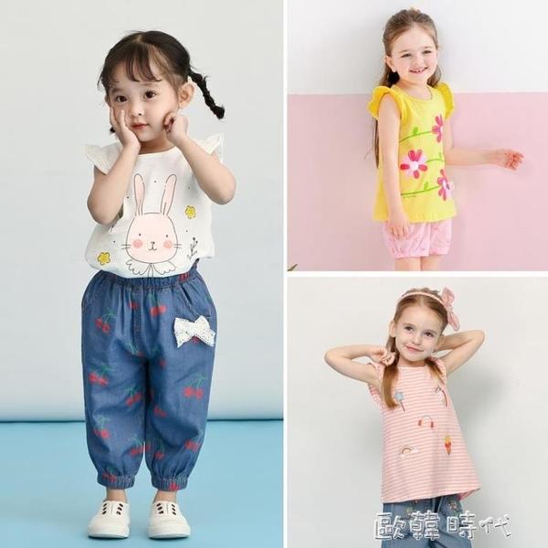 女童夏裝3歲嬰兒夏季上衣童裝洋氣夏薄小童兒童t恤女0一1寶寶短袖 歐韓時代