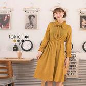 東京著衣-多色甜美小圓點領綁帶洋裝-S.M(172921)