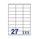 Unistar 裕德3合1電腦標籤紙 (68)UH3270 27格 (100張/盒)