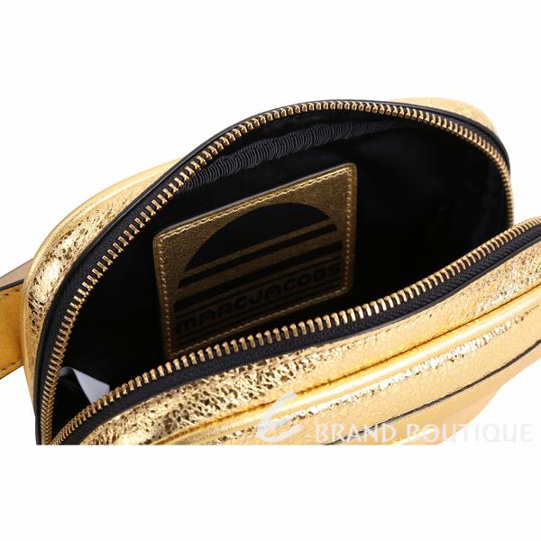 MARC JACOBS Sport 運動系列 冰裂紋牛皮胸背/肩腰包(金色) 1840611-24