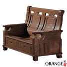 【采桔家居】伊格麗 典雅風樟木實木二人座收納式沙發椅(收納抽屜設置)