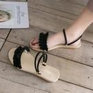 羅馬拖鞋羅馬涼鞋年女仙女風ins潮平底鞋小清新平跟一鞋兩穿拖鞋 芊墨左岸