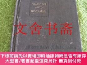 二手書博民逛書店Franklin s罕見Autobiography 1917年原版 英文版 精裝Y21030 Benjamin