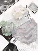 無痕網紗女士內褲女性感蕾絲純透明透氣棉襠三角褲底褲頭【韓衣舍】