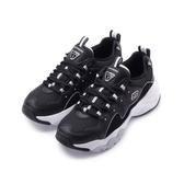 SKECHERS DLITES 3.0 綁帶運動鞋 黑白 12955BKW 女鞋