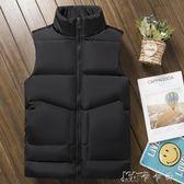 秋冬季羽絨棉馬甲背心休閒男士加厚保暖韓版潮修身坎肩外套棉馬甲 卡卡西