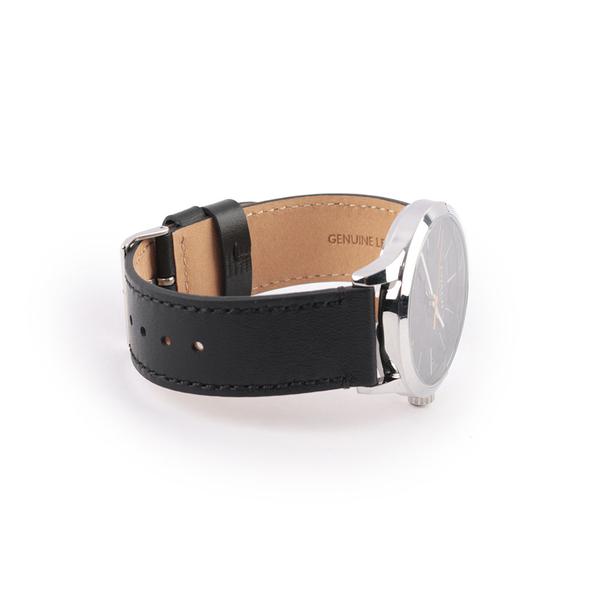 【COACH】Baxter經典皮帶40mm(拚色錶帶/C LOGO錶面) W1584 BLK