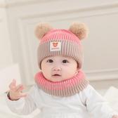 嬰兒帽子秋冬嬰幼兒女寶寶公主韓版0-12個月男寶寶可愛圍巾圍脖  免運快速出貨