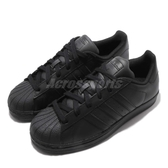 adidas 休閒鞋 Superstar 全黑 貝殼頭 黑 男鞋 女鞋 情侶鞋 【PUMP306】 AF5666