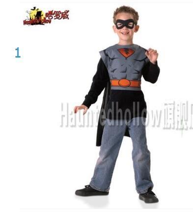 萬聖節兒童cosplay閃電俠綠燈俠超人披風卡通動漫服裝男童