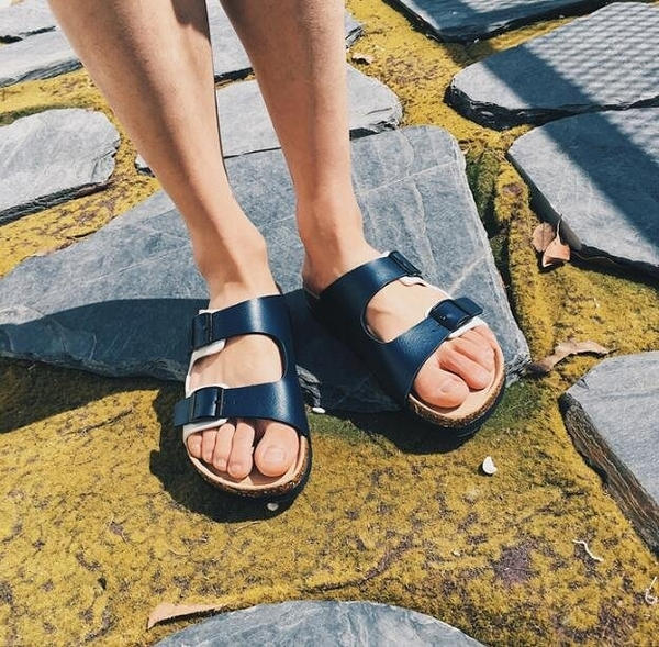 找到自己 MD 韓國 休閒 時尚 男 軟木 防滑 一字拖鞋 沙灘涼鞋拖鞋 學生拖鞋