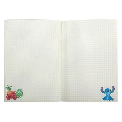 《LEing》迪士尼A5縫線式平裝彩頁筆記本(夏威夷史迪奇)★funbox生活用品★_RD00258
