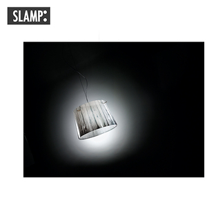【SLAMP】WOODY 吊燈-白/藍白色