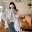 韓國製.經典款氣質修身墊肩西裝外套.白鳥麗子