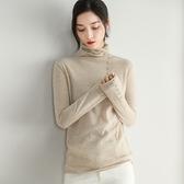 羊毛針織衫-高領純色鈕扣裝飾保暖女毛衣3色73uj38【巴黎精品】