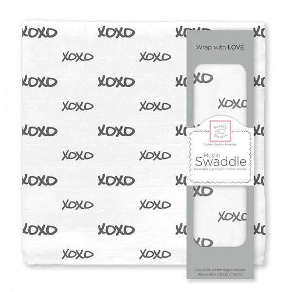 包巾/嬰兒包巾 美國 Swaddle Designs 多用途嬰兒包巾1入禮盒 SDM-163BK-XO 黑白XOXO