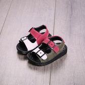 夏季男童鞋沙灘軟底鞋1-2-3歲女童寶寶嬰兒學步韓國兒童涼鞋