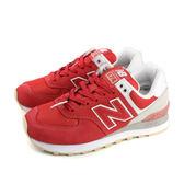 NEW BALANCE 574系列 運動鞋 復古鞋 紅色 女鞋 窄楦 WL574TAD-B no483