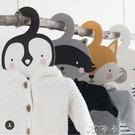 ins兒童卡通木制衣架動物造型衣架兒童房樣板間軟裝拍照道具 卡卡西