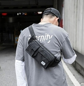單肩包 腰包機能大容量運動胸包男ins超火斜跨單肩包大學生百搭小包