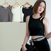 現貨-MIUSTAR 肩挖空造型短版棉質背心(共3色)【NJ1712】