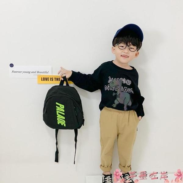 兒童背包小學生簡約字母後背包兒童小孩子超輕便背包男女童韓版秋款書包潮 芊墨 上新