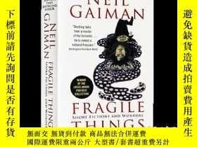 二手書博民逛書店尼爾蓋曼罕見易碎品 英文原版 Fragile Things 英文