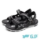 G.P (男)超緩震氣墊涼鞋-黑(另有藍)