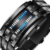 手錶 手錶男潮流韓版個性酷電子錶男士學生二進制led防水情侶大氣概念 全館免運