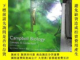 二手書博民逛書店Campbell罕見Biology: Concepts & Connections 坎貝爾生物學:概念與聯系。、奇