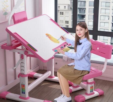 兒童書桌 寫字桌椅套裝學習桌家用書桌椅子可升降簡約小孩小學生課桌椅【快速出貨八折搶購】
