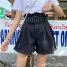 2019夏季新款韓版大碼胖mm牛仔短褲女高腰寬鬆顯瘦a字闊腿熱褲子聖誕交換禮物