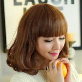 韓系假髮女齊肩內彎鎖骨短假髮齊斜瀏海蓬鬆梨花頭韓系可愛短捲髮