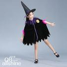 萬聖節 女童服裝 黑巫婆魔法師披風 17401025
