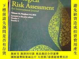 二手書博民逛書店Human罕見and Ecological Risk Asses