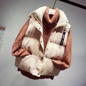 外套馬甲女秋冬新款短款韓版學生學院風潮坎肩棉服馬夾   創想數位