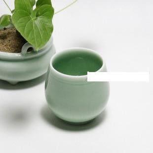 原創 手工青瓷茶杯/迎客