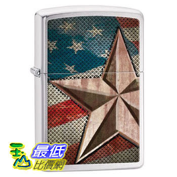 [104 美國直購] Zippo Star Lighter, Brushed Chrome 打火機