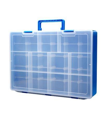 雙11好康鉅惠樂高收納盒分類盒整理箱 雙層兒童積木多格零件盒工具盒第七公社6色