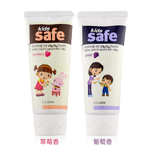 韓國 CJ LION 兒童牙膏 90g 草莓/葡萄【新高橋藥妝】2款供選