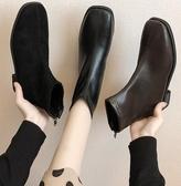 馬丁靴 切爾西靴子女秋款百搭瘦瘦鞋新款網紅馬丁靴英倫風ins短靴潮  維多