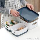廚房桌面收納盒櫥柜餐具盒子 帶蓋塑料長方形儲物盒化妝品整理盒【帝一3C旗艦】YTL