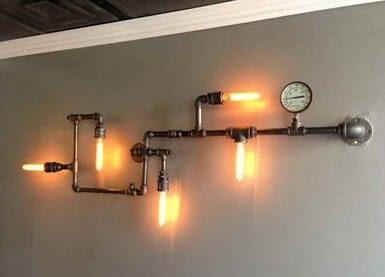 設計師美術精品館特價復古美式鄉村loft工業水管燈個性墻燈壁燈非壁紙燈