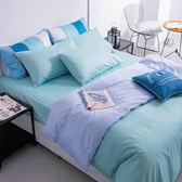 OLIVIA 【素色無印系列  淺藍 粉藍】6X6.2尺 加大雙人床包冬夏兩用被套四件組 100%精梳棉 台灣製
