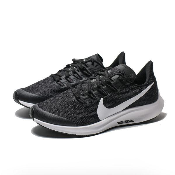 NIKE AIR ZOOM PEGASUS 36 (GS) 黑灰 網布 訓練 慢跑鞋 女 (布魯克林) AR4149-001