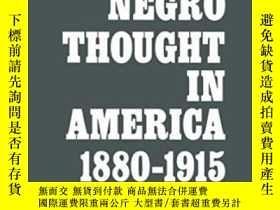 二手書博民逛書店【英文原版】《美國的黑人思想》Negro罕見Thought In