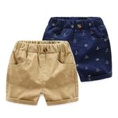 短褲 海軍風休閒短褲 寶寶短褲 嬰幼兒短褲 童褲 QY113 好娃娃