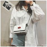 單肩包小仙女包包女夏季新款潮韓版時尚鏈條單肩包小方包斜挎包小包 99免運