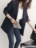 秋季新款韓版小西裝女士外套chic上衣正裝黑色休閒秋裝西服 印象家品旗艦店