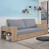 沙發 布沙發 收納【收納屋】木柞單人沙發床+厚墊-藍灰色&DIY組合傢俱☛預購